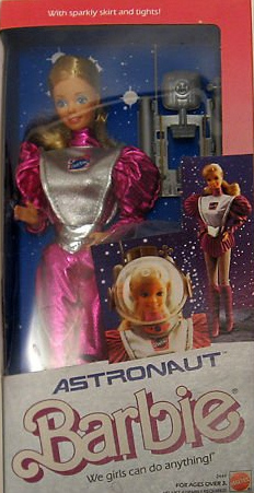 1985 Astronaut Barbie in box