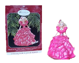 1990 Happy Holiday Barbie Ornament