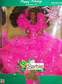 African American 1990 Happy Holiday Barbie