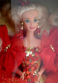 1993 Happy Holiday Barbie Face