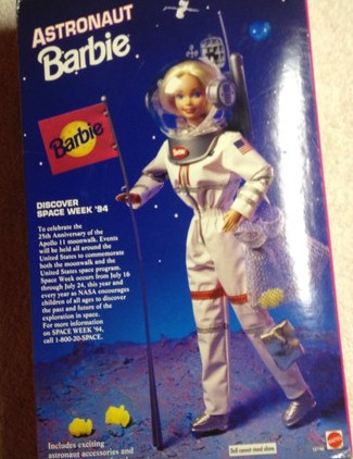 1994 Astronaut Barbie Back of Box