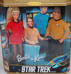 1996 Barbie and Ken Star Trek Gift Set in Box