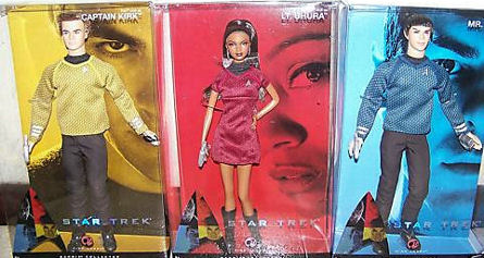2009 Star Trek XI Barbie and Ken Dolls in Boxes