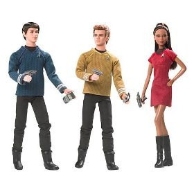 2009 Star Trek XI Barbie and Ken Dolls