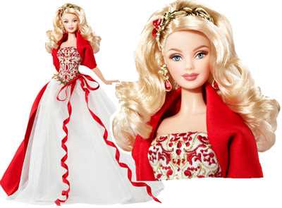 2010 Holiday muñeca Barbie