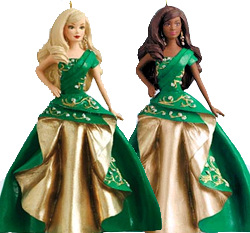2011 Hallmark Holiday Barbie Ornament - Celebration Barbie