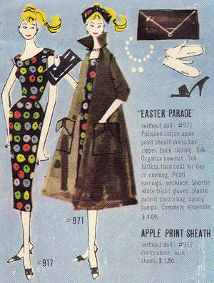 1959 Barbie Apple Print Sheath Dress Booklet