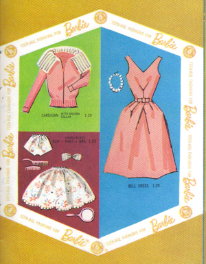 Bell Dress as it appeared in the 1962 Barbie Booklet