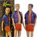 1961 Ken Doll With Flocked Hair