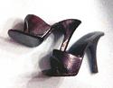 Vintage Barbie Black Open Toe Shoes