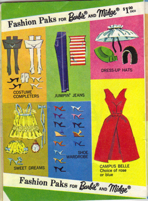 Campus Bell Dress as it appeared in the 1964 Barbie Booklet