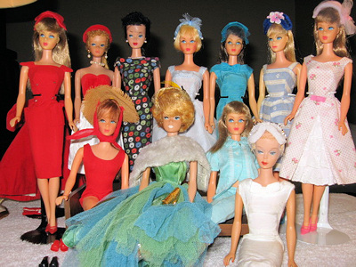 Deb's vintage Barbie collection
