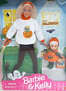 1997 Target Halloween Fun Barbie & Kelly Dolls