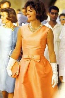Jackie Kennedy wearing Oleg Cassini Dress