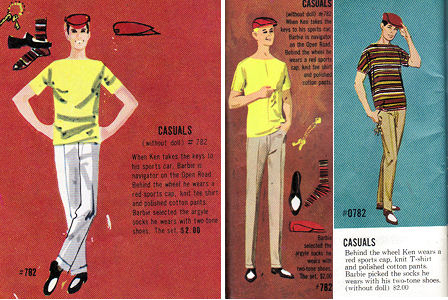 Vintage Ken Casuals booklet