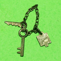 Vintage Ken Casuals Key Chain & Keys