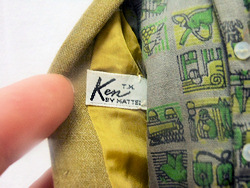 Vintage Ken Dreamboat Tag