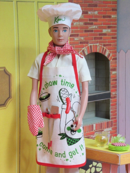 Vintage Ken in Cheerful Chef.