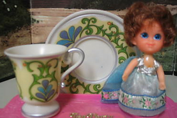 Lady Silver Tea Party Kiddle