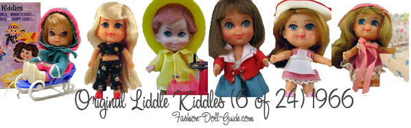 6 of the 24 original liddle kiddles