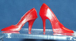 Vintage Barbie Red Closed Toe Heels and Closed Toe Heels with Spike Heels