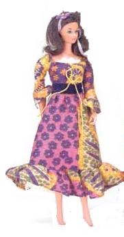 Vintage Barbie Peasant Dressy