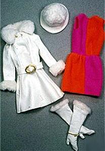 Vintage Barbie Red White 'n Warm