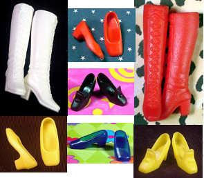 Vintage Barbie Shoe Scene