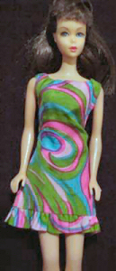 Vintage Barbie Swirly Cue