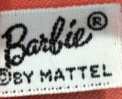 VIntage Barbie Clothing Tag