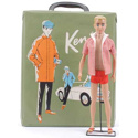 Vintage Ken Doll and case