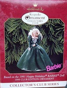 1991 Holiday Barbie Ornament