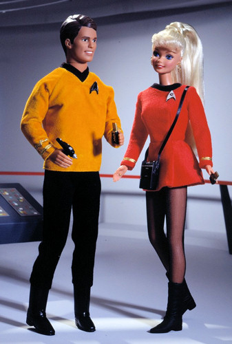1996 Barbie and Ken Star Trek Gift Set