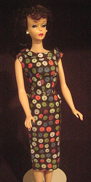 Vintage Barbie Apple Print Sheath Dress #917 (1959 -1960)