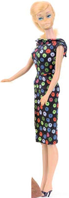 Vintage Barbie Apple Print Sheath Dress #917