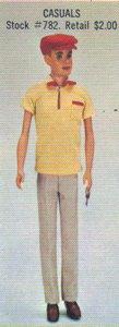 Vintage Ken Casuals as shown in the 1961 Mattel dealer catalog