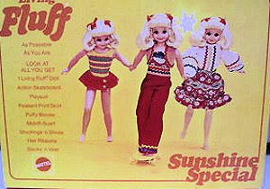 Vintage Skipper Sunshine Fluff Doll Gift Set #1249 (1971) Special Sears Exclusive Nox Cover