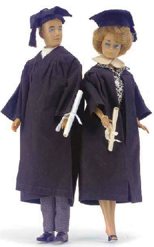 Vintage Barbie and Ken Graduation
