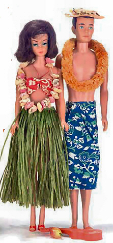 Vintage Barbie in Hawaii and Vintage Ken in Hawaii
