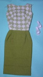 Vintage Barbie Lunch Date Fashion Pak Dress