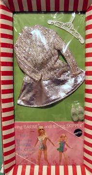 Vintage Barbie Silver Sparkle