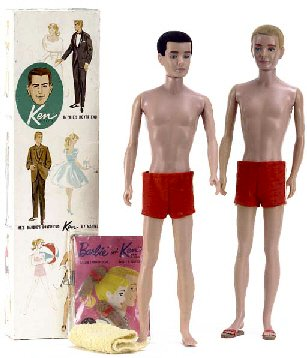 Vintage Ken Doll With Flocked Hair