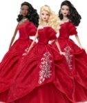 2012 Holiday Barbie Dolls