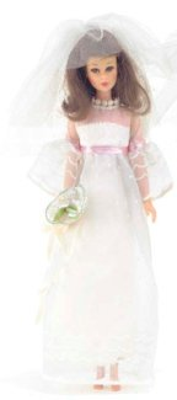 Francie wearing Wedding Whirl #1244 (1970 - 1971, 1974)