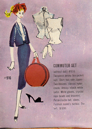 1959 Barbie Booklet - Commuter Set
