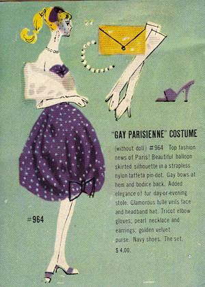 1959 Barbie Booklet - Gay Parisienne