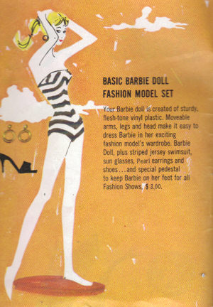 1961 Barbie Booklet - Ponytail Barbie