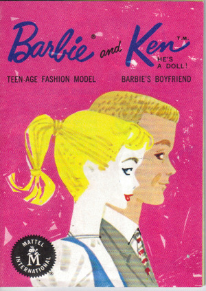 1961 Barbie Booklet - Barbie & Ken on the cover