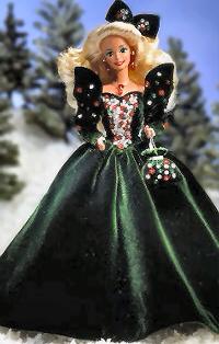 Happy Holiday Barbie Dolls