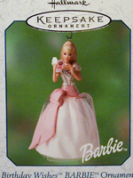 Birthday Wishes Barbie #1 Ornament